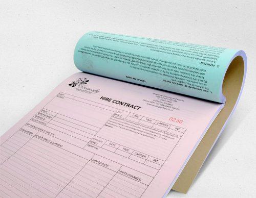 Invoice booklet